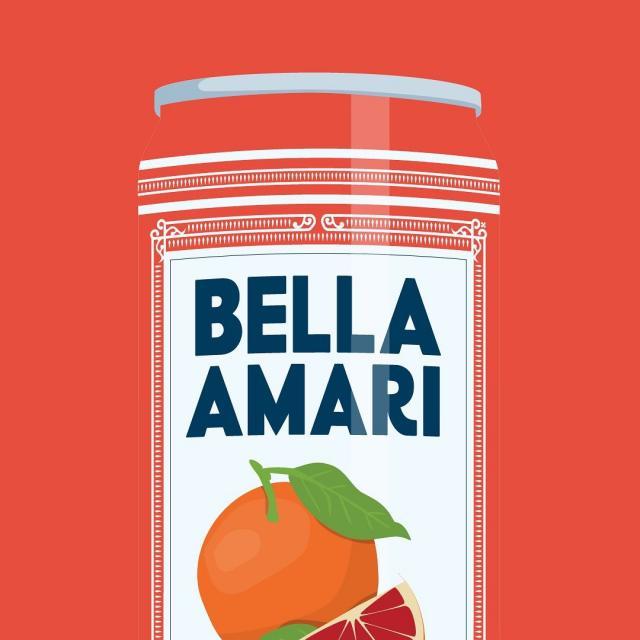 Bella Amari Blood Orange 6.5% Italian Style Spritz ✨ // Bella Amari Orange Sanguine 6.5% Spritz à l'italienne. . #beautifullybittersweet